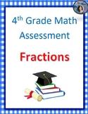 4th Grade CCSS Fractions Assessment