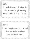 4th Grade CCSS Speaking and Listening I Can Statements