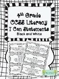 4th Grade CCSS I Can Statements ELA