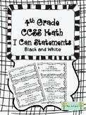 4th Grade CCSS I Can Statements Math