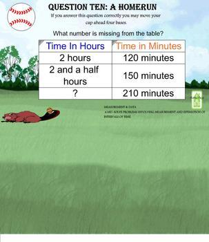 4th Grade CCSS Math Baseball Game SMARTBOARD FLIPCHART ~ TEST PREP REVIEW