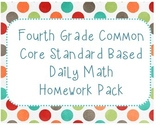 4th Grade CCSS Math Homework Pack