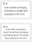 4th Grade CCSS Reading I Can Statements