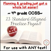 4th Grade CCSS Standards Aligned Fourth Grade Reading Worksheets