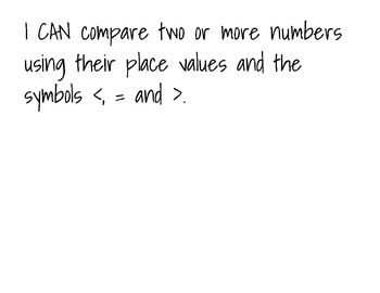 """4th Grade COMMON CORE Everyday Math UNIT 2 """"I CAN"""" Statements"""