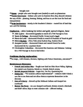 4th Grade CRCT Social Studies Study Guide - Complete year