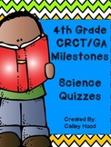 4th Grade Science GA Milestones Review Year Round & Test Prep Quizzes