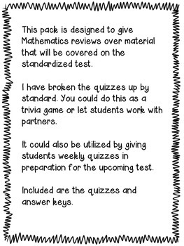 4th Grade Bundle GA Milestones, CC Science, SS, & Math Review Year Round Quizzes