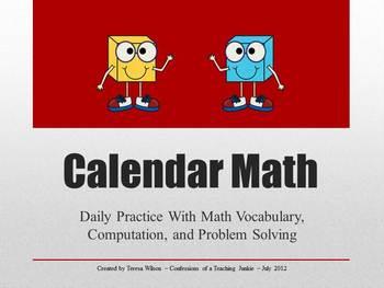 4th Grade Calendar Math Bundle