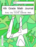 Calendar Math 4th Grade Math Journal - to be used with Every Day Counts