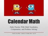 4th Grade Calendar Math Smart Notebook File