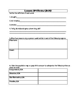 4th Grade California Geography Study Guide