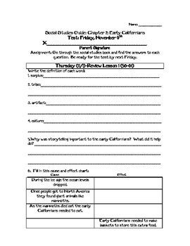 4th Grade California Native American Study Guide