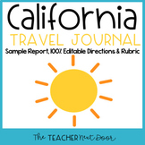 4th Grade California Travel Journal | California Report | California Project
