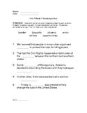4th Grade California Treasures Unit 1 Week 1 Vocabulary Quiz