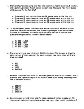 4th Grade Category 2 STAAR Review Questions