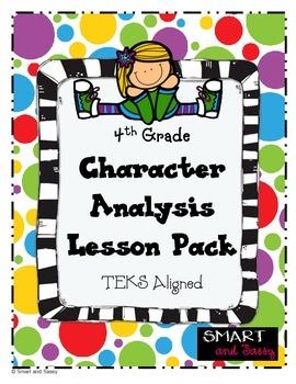 4th Grade Character Analysis Lesson Pack TEKS Aligned