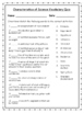 4th Grade Characteristics of Science Vocabulary Packet with a Quiz