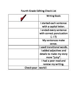 4th Grade Checklist