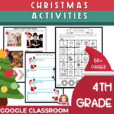 4th Grade Christmas Activities | Google Classroom | Distan