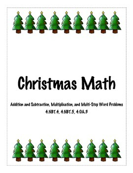 4th Grade Christmas Math