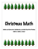 4th Grade Christmas Math