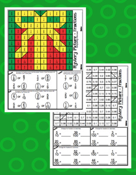 4th Grade Christmas Math: 4th Grade Math Mystery Pictures