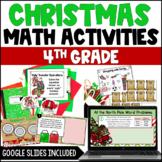 4th Grade Christmas Math Activities   Digital Christmas Math Activities