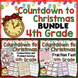 4th Grade Christmas Math Countdown: 4th Grade Christmas Math Activities Bundle