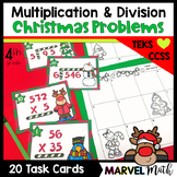 4th Grade Christmas Multiplication and Division Task Cards