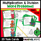 4th Grade Christmas Multiplication and Division Word Problems