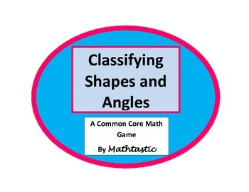 4th Grade Classifying Shapes and Angles and Identifying their Properties Game