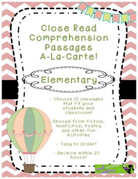 Elementary Close Read A-La-Carte! Choose your own Close Re