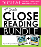 4th Grade Close Reading - Informational AND Literature BUNDLE (100 passages)
