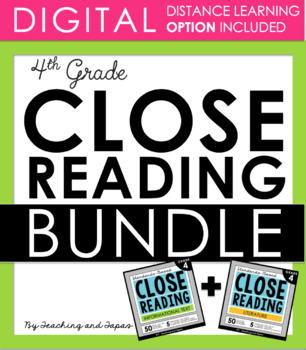4th Grade Close Reading - Informational & Literature BUNDLE (DISTANCE LEARNING)