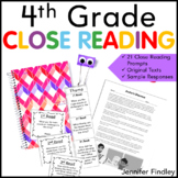 4th Grade Close Reading Passages and Prompts