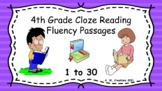 4th Grade Cloze Reading Fluency Passages - Sets 1 to 30 (G