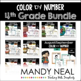 4th Grade Color By Number Math Bundle