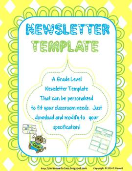 4th Grade Colorful Newsletter