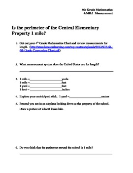 4th Grade Common Core 4.MD.1 and 4.MD.3