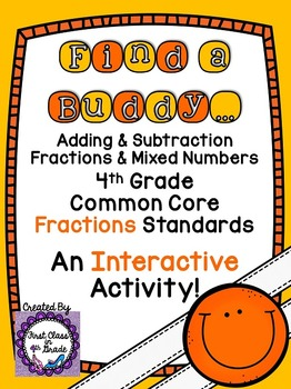 4th Grade Common Core Add, Subtracting Fractions & Mixed N