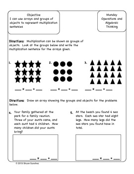 4th Grade Common Core Aligned Homework Pack (4 Weeks) August/September
