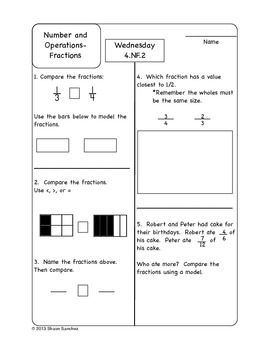 4th Grade Common Core Aligned Homework Pack (4 Weeks)- October