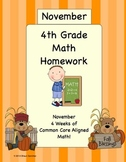 4th Grade Common Core Aligned Homework Pack-First Trimeste