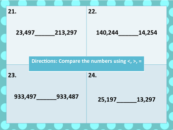 4th Grade Common Core Aligned Place Value Unit Review Task Card Center Activity