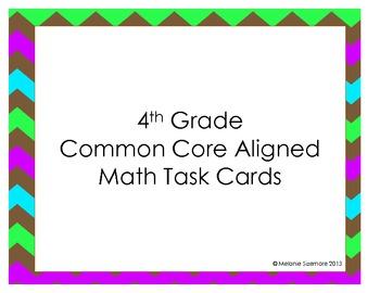 4th Grade Common Core Aligned Task Cards