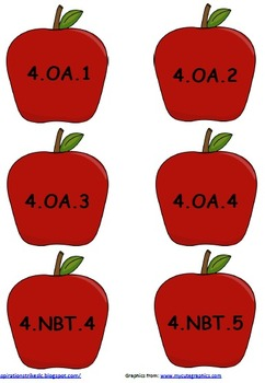4th Grade Common Core Apple Tree Display