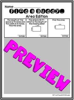 4th Grade Common Core Area (Find a Buddy)