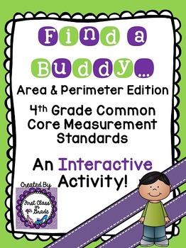 4th Grade Common Core Area & Perimeter (Find a Buddy)