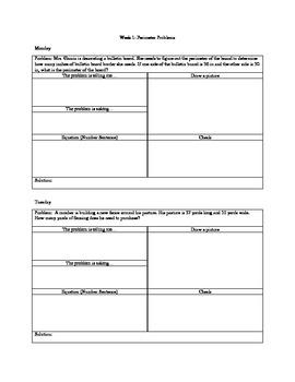 4th Grade Common Core Area and Perimeter Word Problems